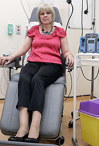 Anne Marie is receiving chemotherapy at the Beatson